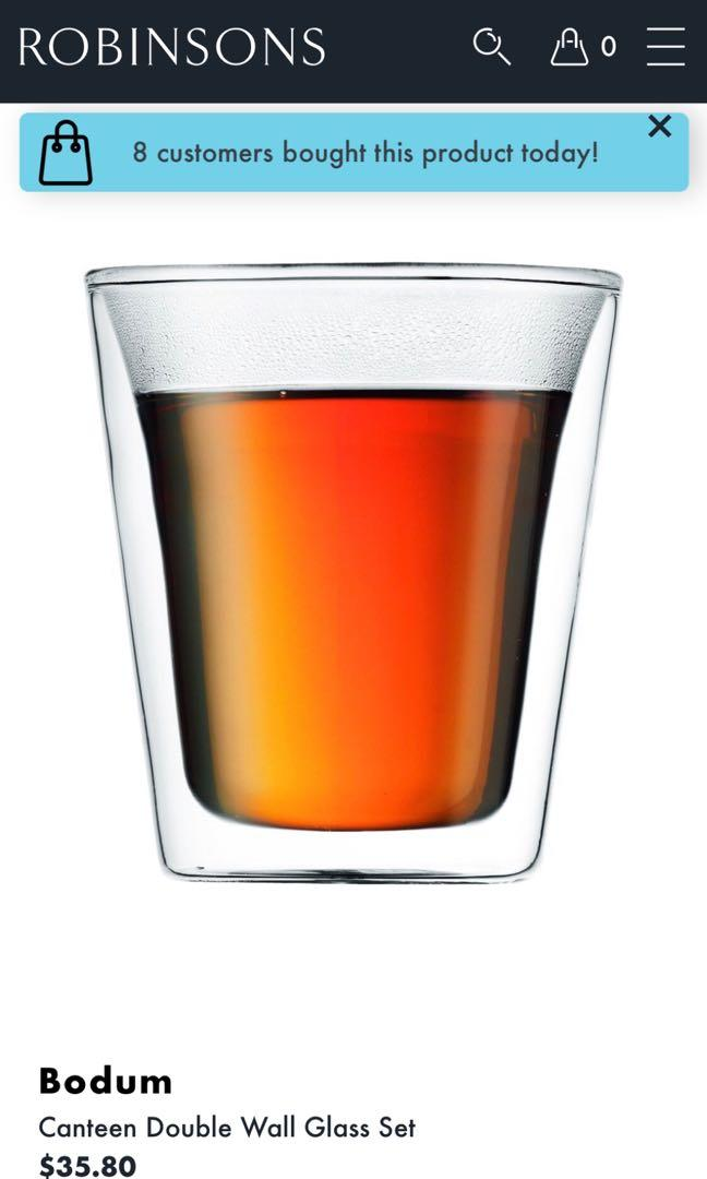 Bodum Canteen Wall Glass Set
