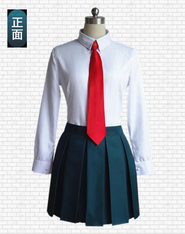 Boku No Hero Academia Todoroki/Midoriya/Bakugou/Ochako/Asui School Uniform