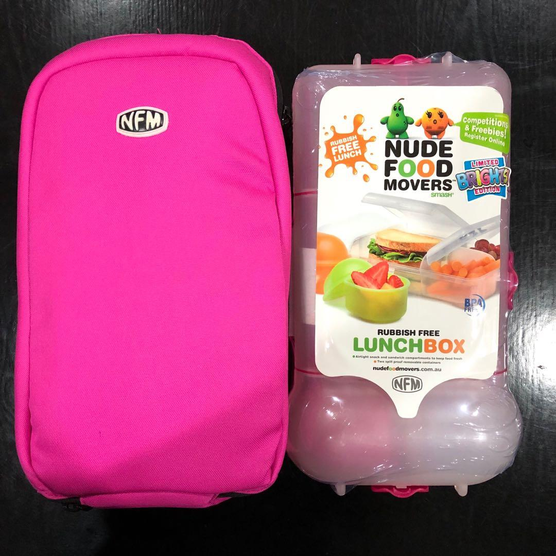 Brand New Nude Food Movers Rubbish Free Lunch Box with bag