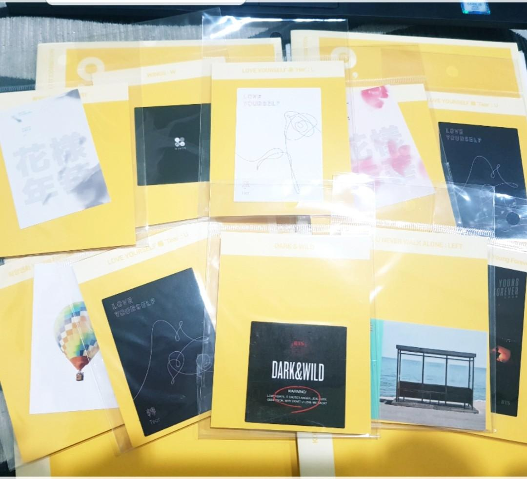 BTS 오늘 Exhibition Official Album cover sticker (full set)