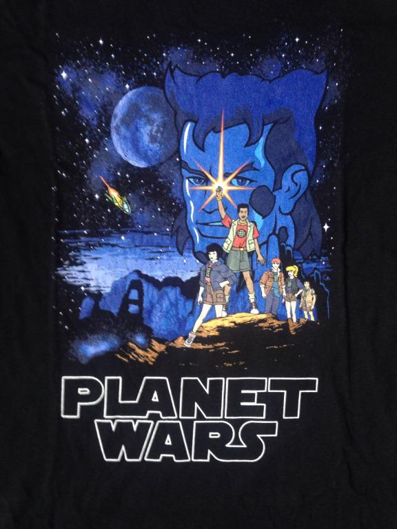 Captain Planet - Unisex/Mens M Black Tee/Star Wars/Parody/TV