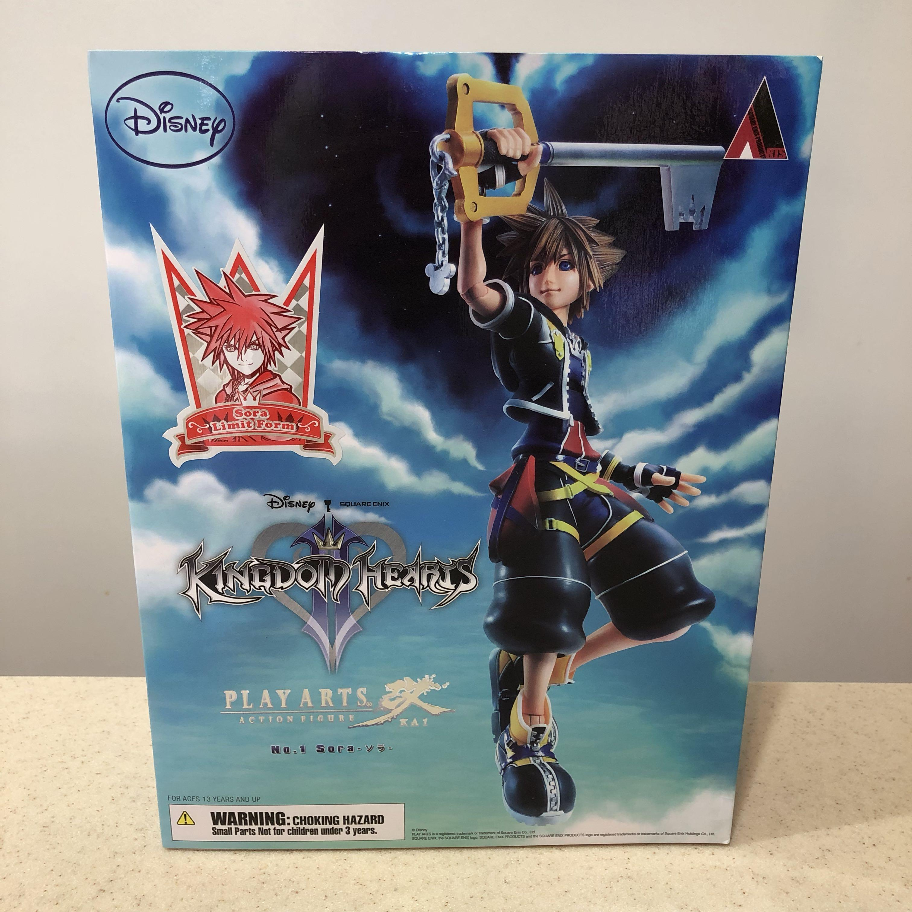 Disney Kingdom Hearts No. 1 Sora Limit Form Play Arts Kai Action Figure