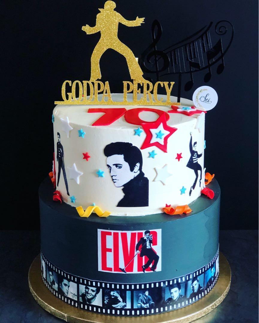Astounding Elvis Presley Cake Food Drinks Baked Goods On Carousell Birthday Cards Printable Inklcafe Filternl