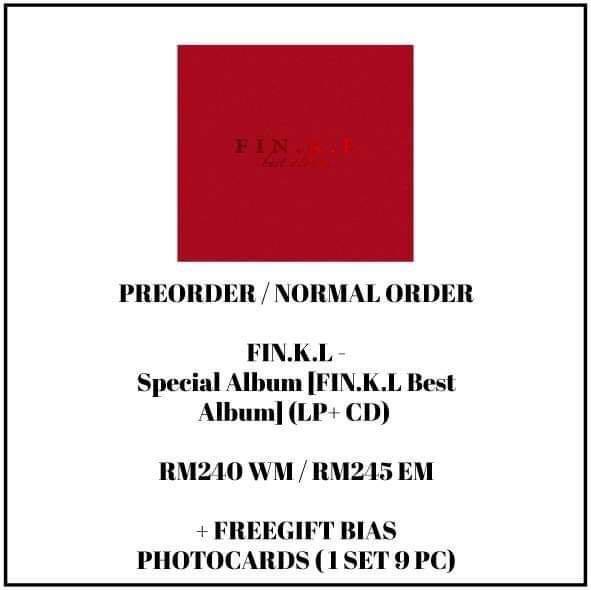 FIN.K.L - Special Album [FIN.K.L Best Album] (LP+ CD) - PREORDER/NORMAL ORDER/GROUP ORDER/GO + FREE GIFT BIAS PHOTOCARDS (1 ALBUM GET 1 SET PC, 1 SET HAS 9 PC)