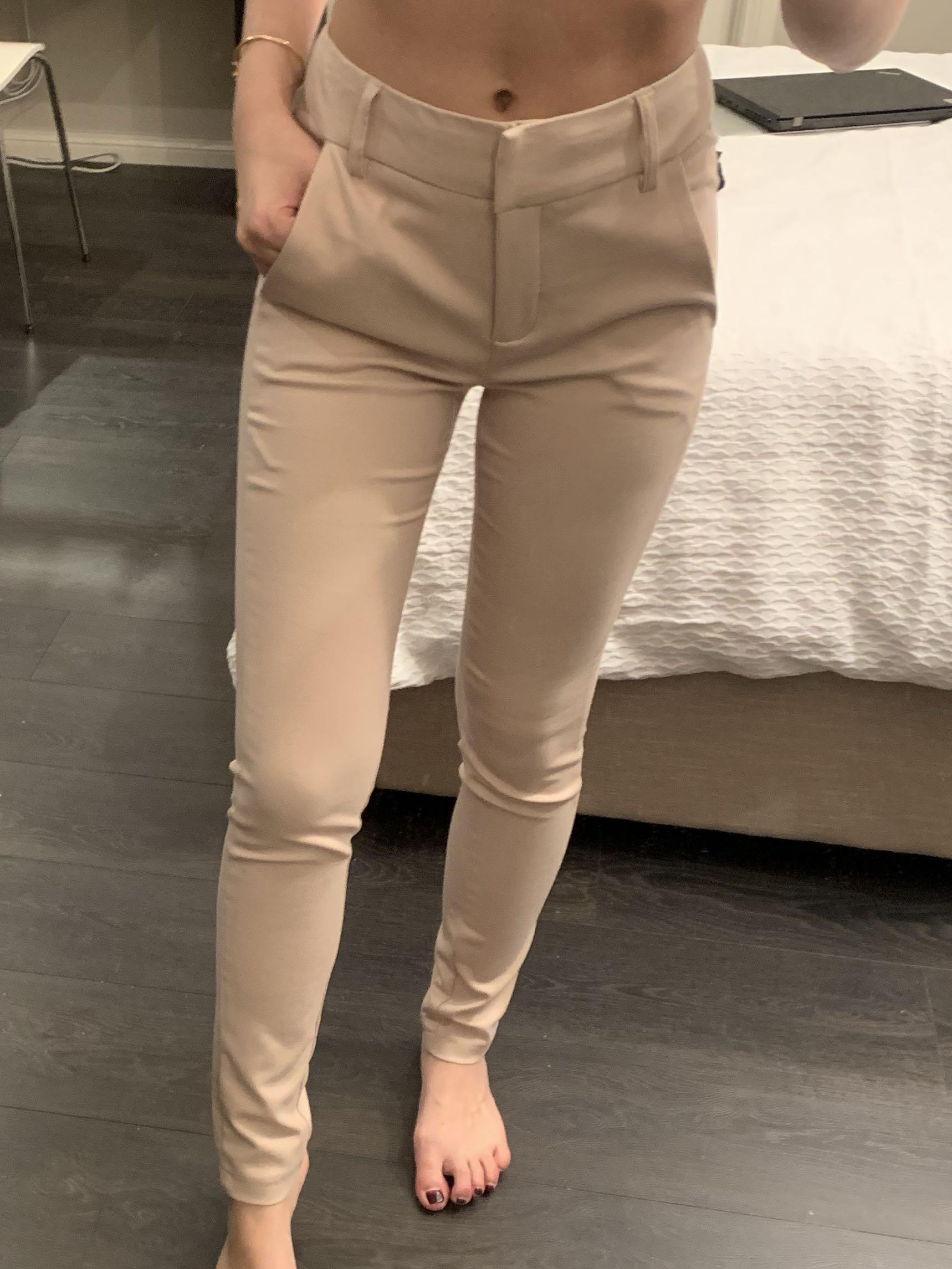 Forcast Beige Tailored Work Pants | Size 4 | RRP $70