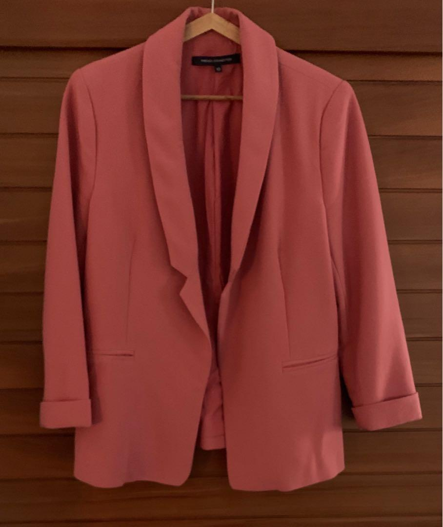 French Connection Pink Blazer Size 10 preloved Excellent Condition