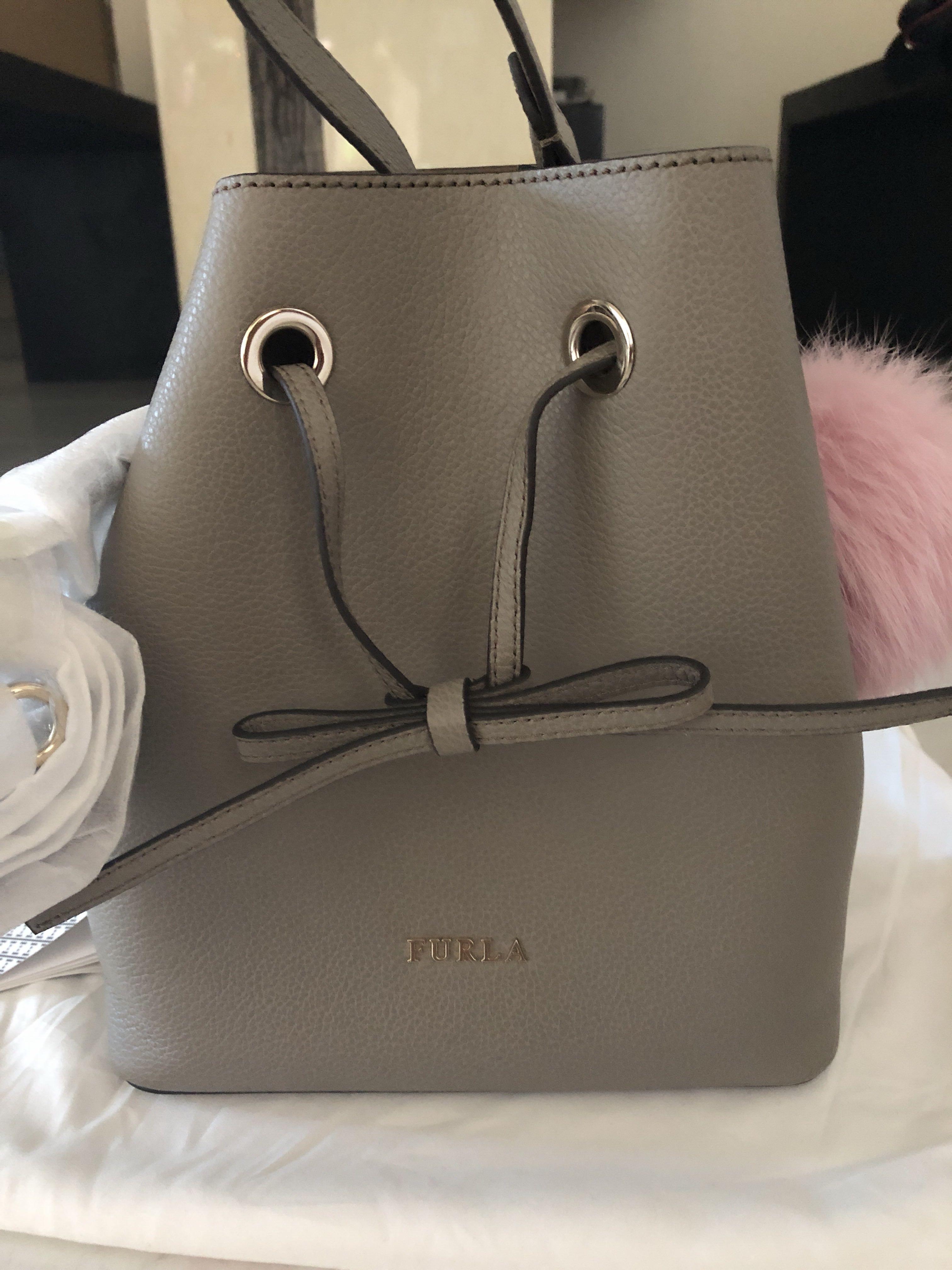 Brand new Furla Grey Bucket Sling Bag
