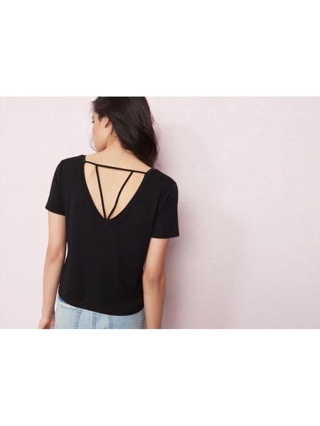 Garage Black Cropped Tshirt