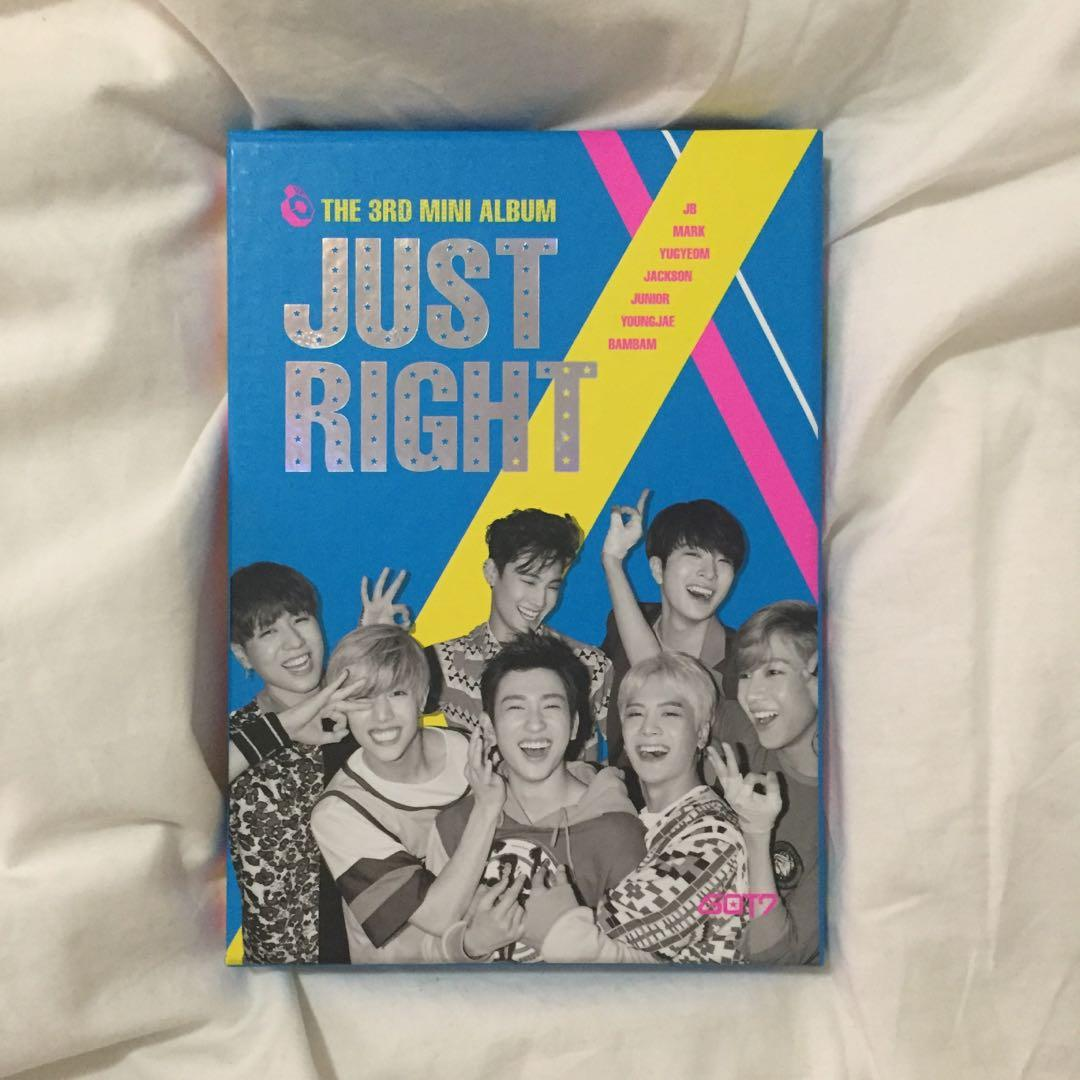 💿GOT7 Just Right Kpop Album CD + Photobook + JB photocard + Jackson photograph