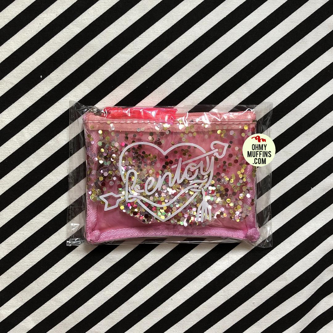 [Instock] Sequins [Pink] Transparent Pouch By Bentoy [Defective Piece]