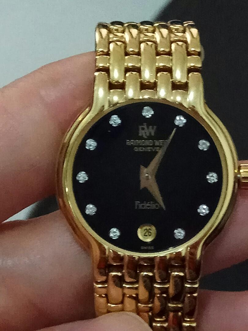 Jam tangan wanita merk Raymond Weil Geneve Fidelio 4702 18K Gold Electroplated