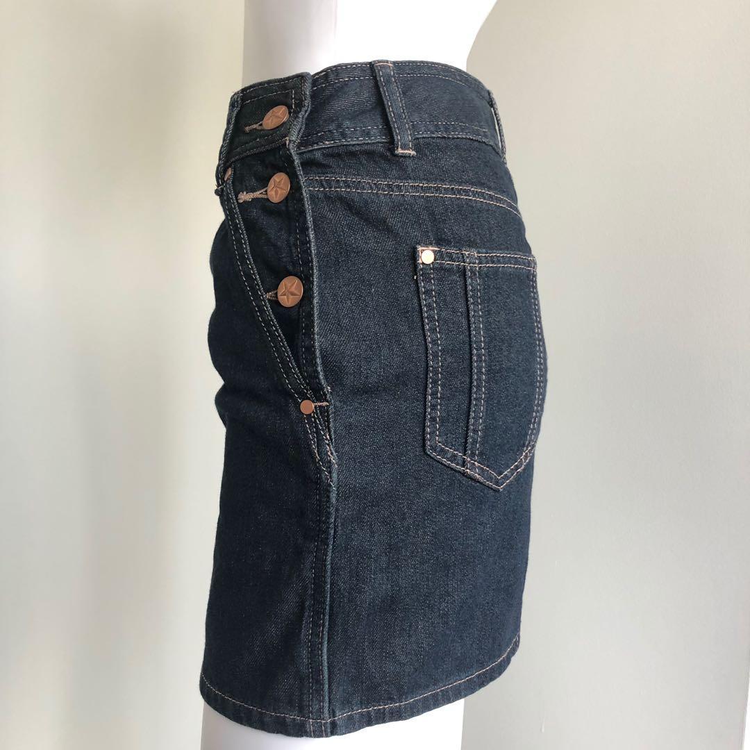 Jean Paul Gaultier x Target Australia size 6 mini skirt denim
