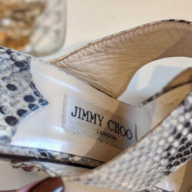 Jimmy Choo leather snakeskin platforms - size 36