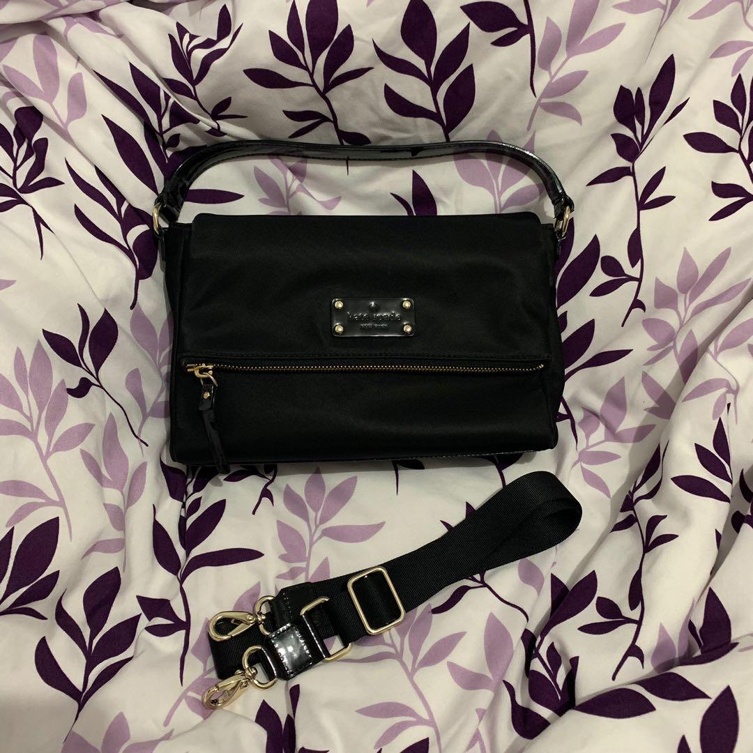 Kate Spade Mini Maria Basic Nylon Black Purse w/ Removable Strap