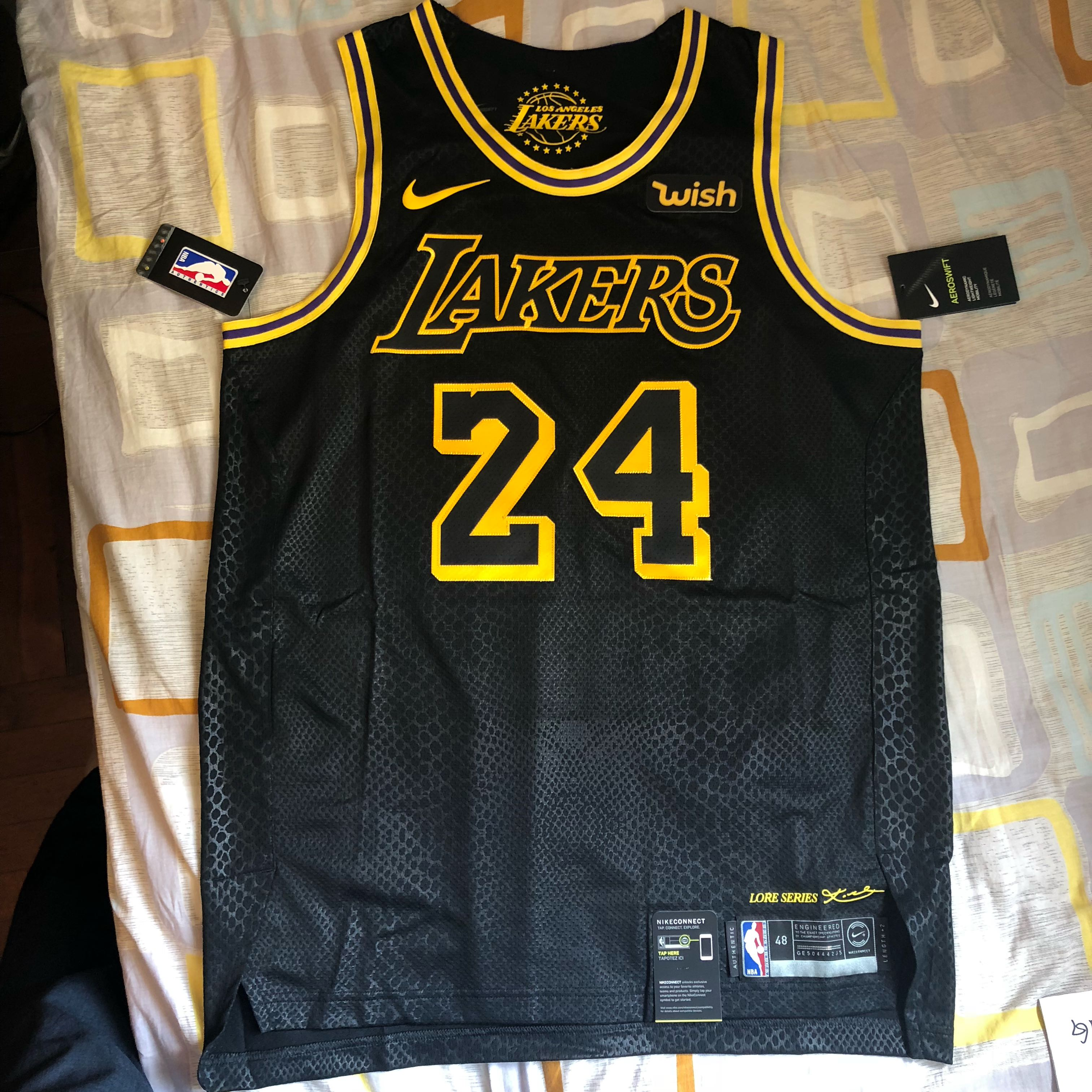new product db29c 76ada KOBE BRYANT LA Lakers City Version AUTHENTIC AU Jersey sz44/48/52 場館限定 Wish  logo