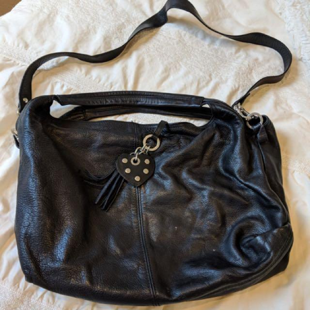 Leather satchel/tote handmade in Greece