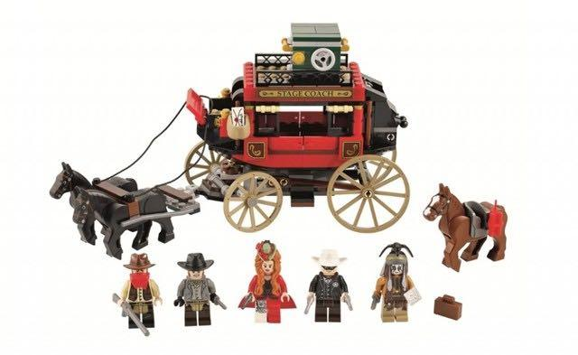 LEGO 79108 The Lone Ranger Stagecoach Escape Instruction Manual Only