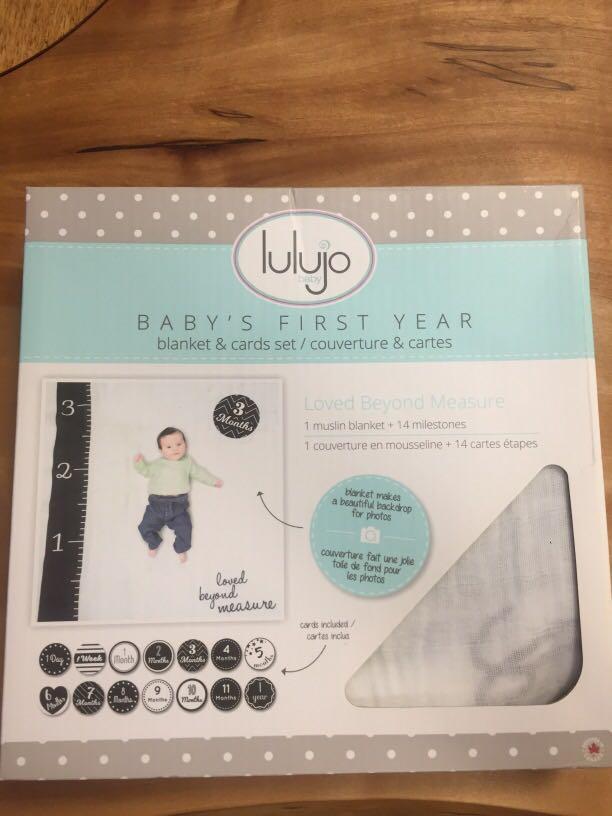 Lulujo baby BB被 (方便每個月慶祝)