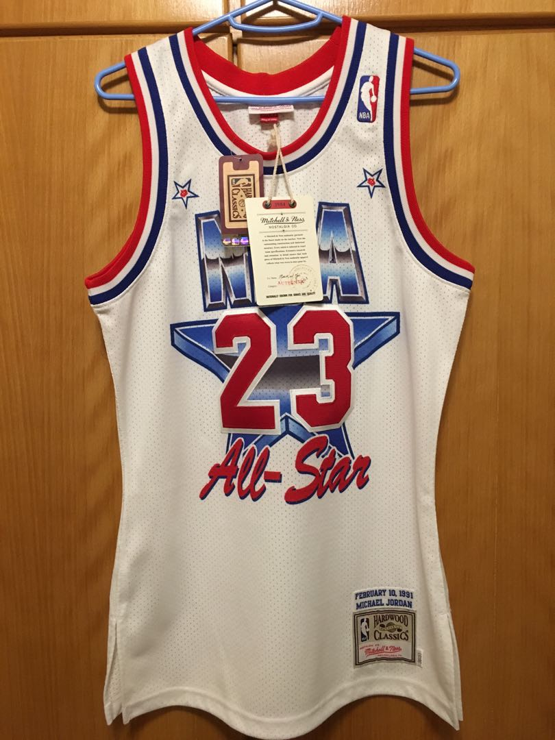 new arrival 5cdfa cd58e Mitchell & Ness 1991 NBA All Star Game Michael Jordan Authentic Jersey Size  36 Small