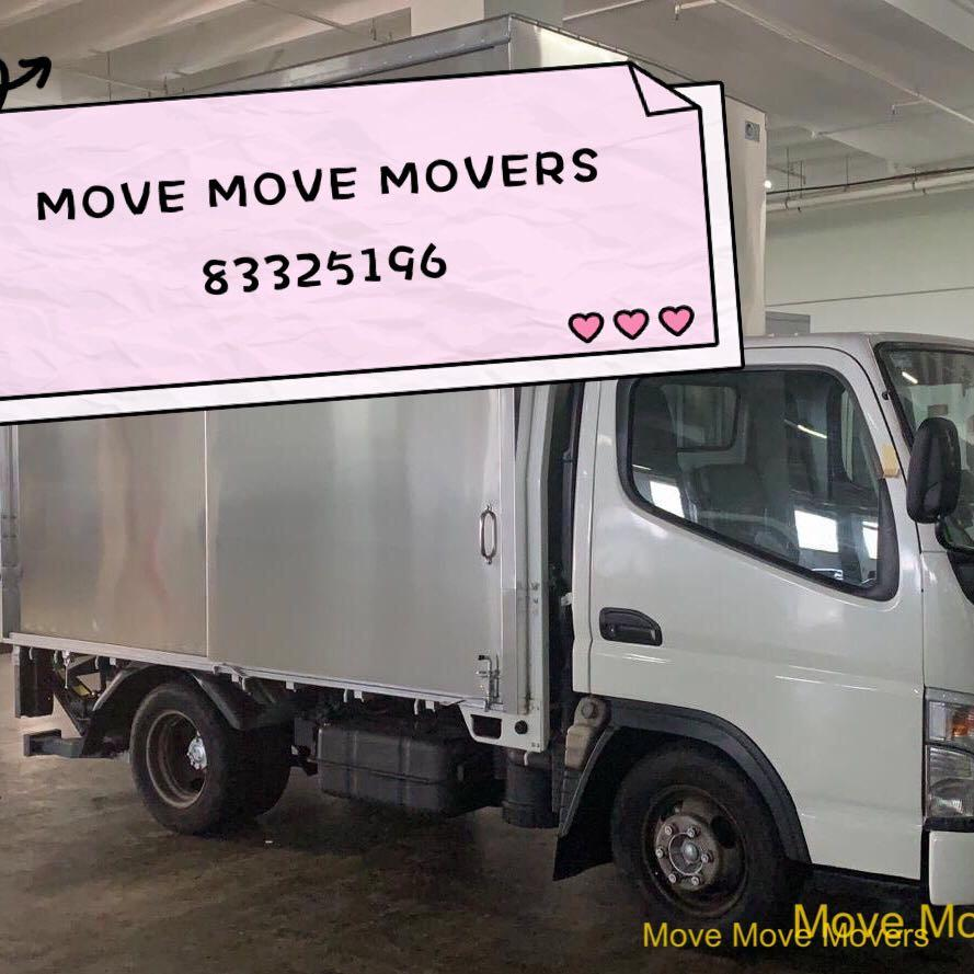 Move Move Movers PTE.LTD. (UEN:201921838K) House Moving Services ,luggage moving , office furniture movers ,manpower ,lorry moving