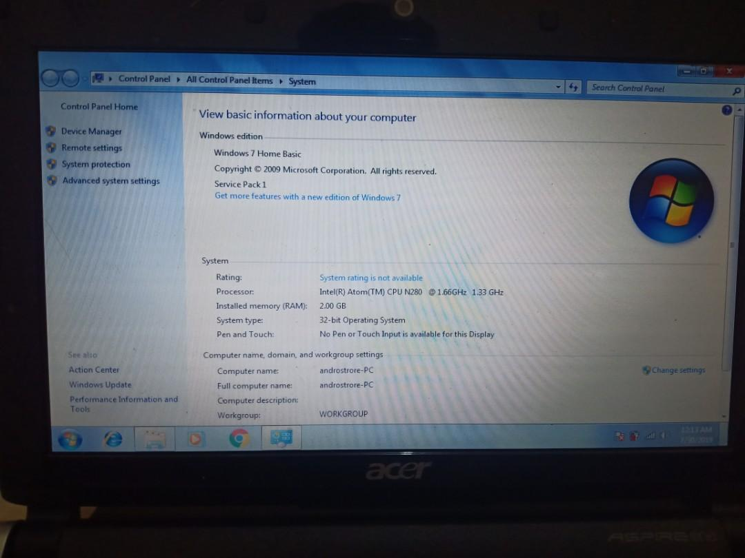 Netbook Accer Aspire One