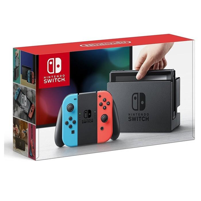 Nintendo Switch neon blue red