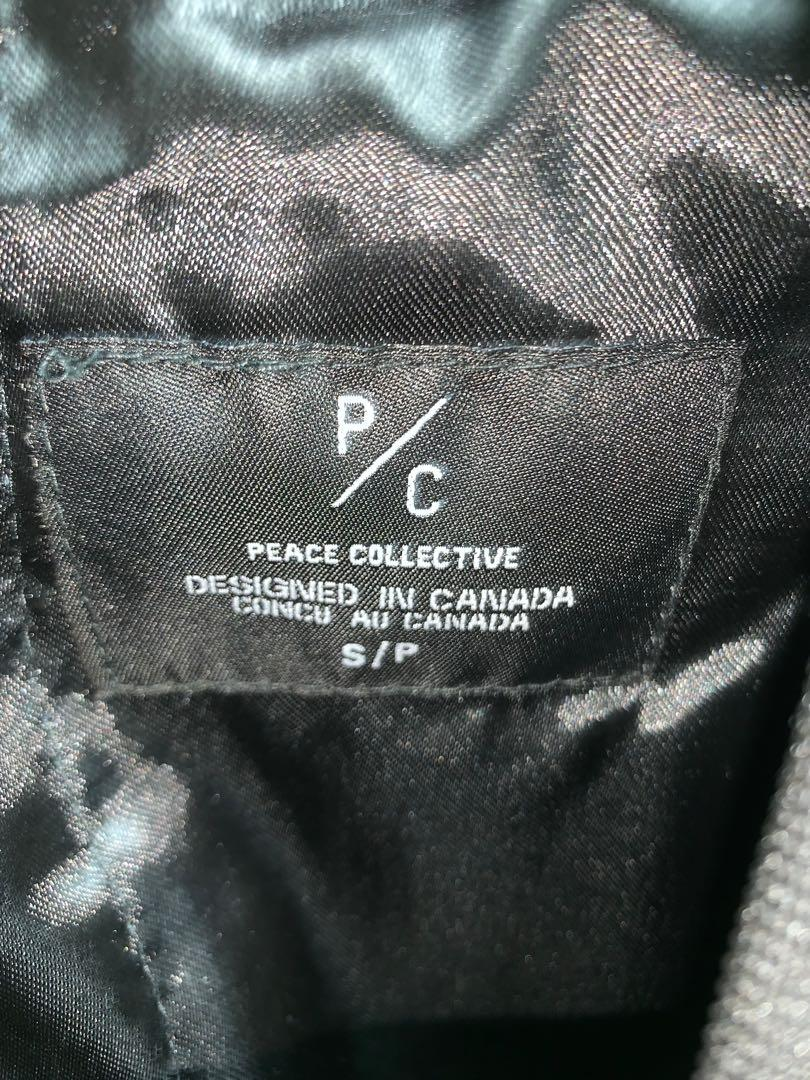BNWT Peace Collective Bomber Jacket Toronto vs Everybody Black