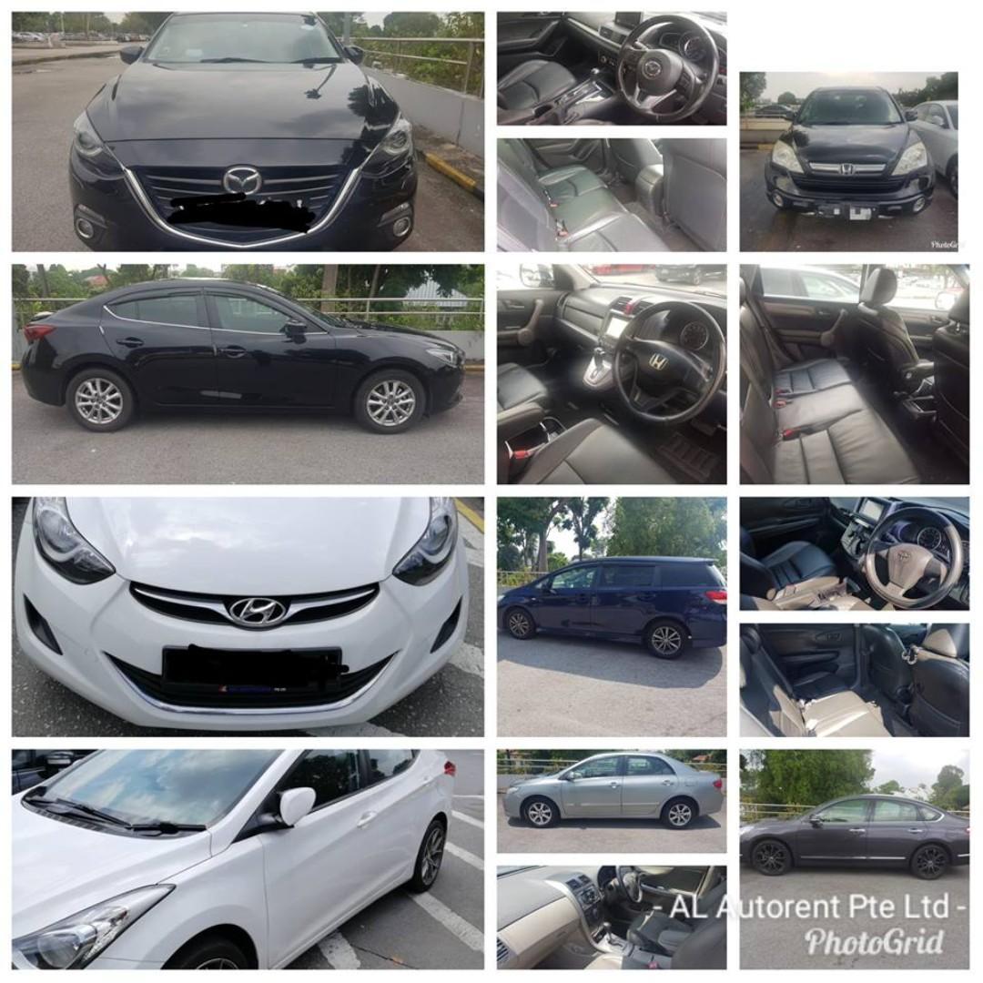 PHV ready car for rental, Weekly from $330. Gojek $150 rebates. Various models to select. Contact us at 88115335