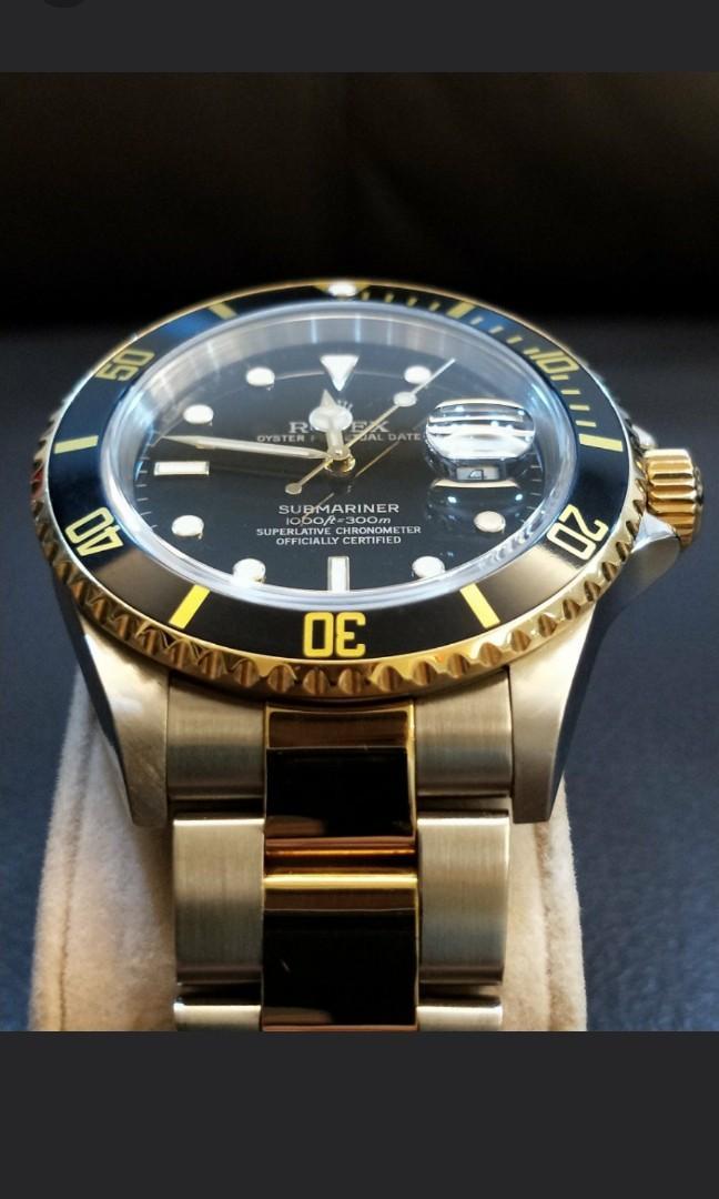 Rolex Sub Half Gold