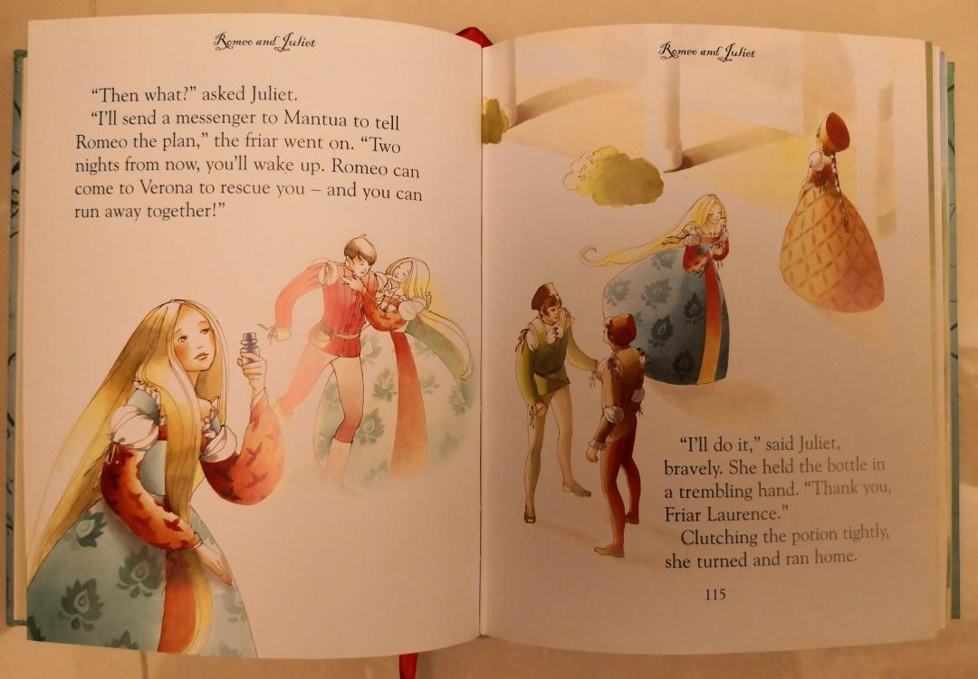 Usborne Illustrated Stories from Shakespeare, 416 pages, like NEW 兒童英文書 Children's English Book