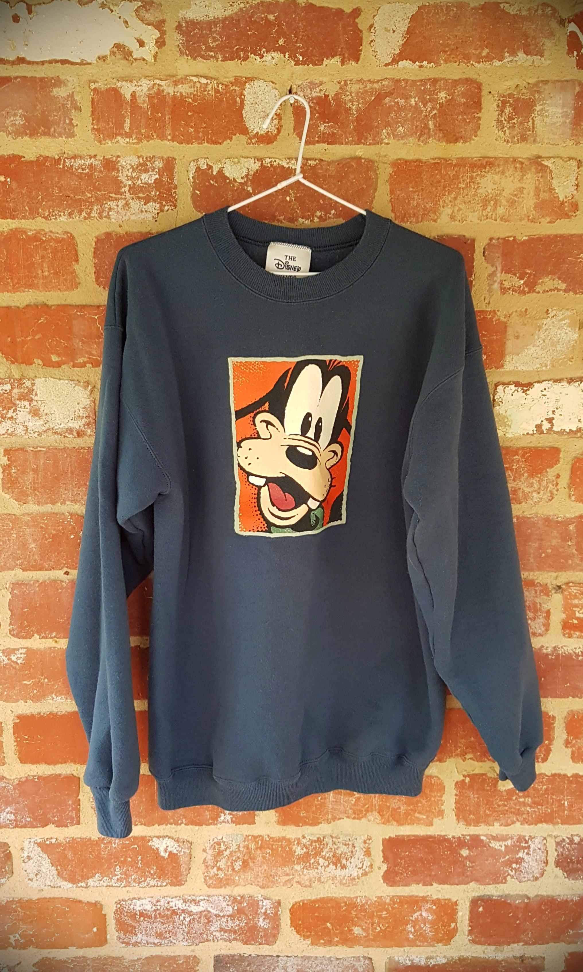 Vintage Disney Goofy Teal Crew Neck Jumper M  - Free Post