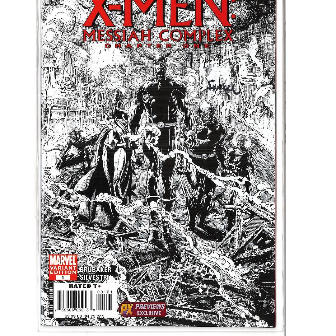 X-Men Messiah Complex Chapter 1 PX Previews Variant Signed by David Finch (VF-NM)