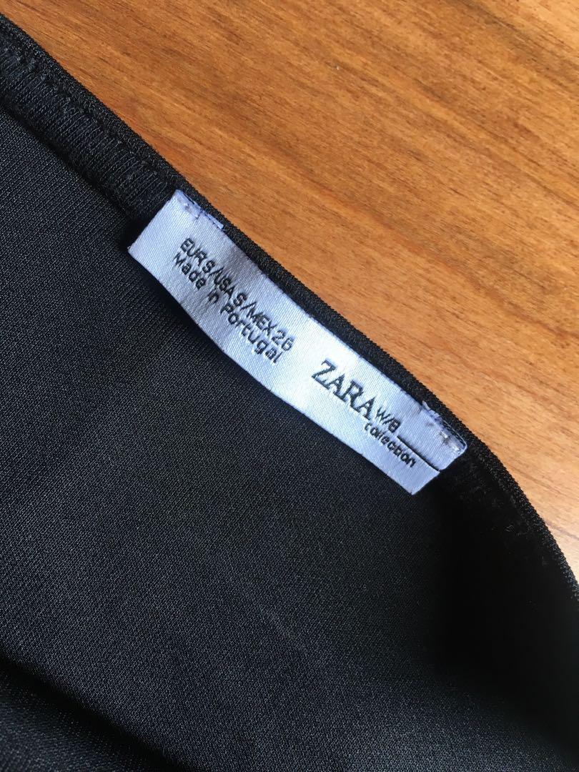 Zara Black Cropped Tank Top