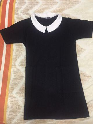 Dress hitam kerah