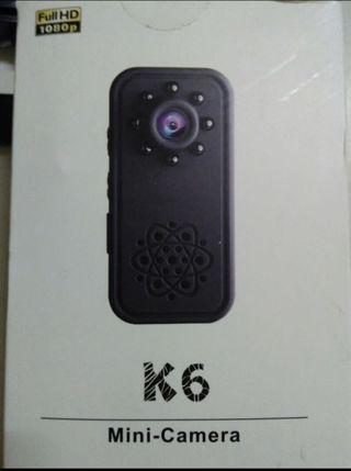 Mini K6 Camera 1080P HD Hidden Surveillance Cameras Video Recorder Nanny Cam with Night Vision
