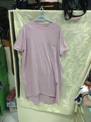 淺藕紫休閒長洋裝 #五折出清女裝