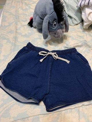 藍色休息短褲