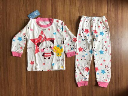 Baju Tidur anak Piyama karakter Panda