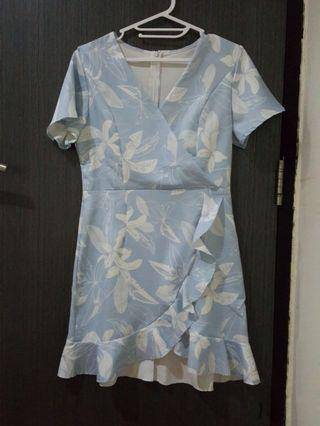 dress flower blue