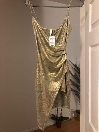 Gold Mendocino Dress- Smal