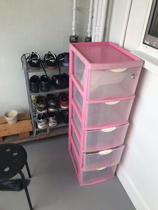 Storage drawer unit plastic