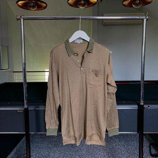 Vintage Burberry Long Sleeve Polo Tee