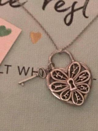Tiffany Filigree Heart Necklace