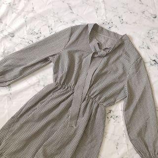 韓版格紋洋裝