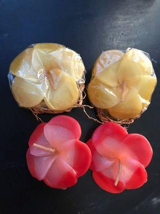 Frangipani Candles 4 pcs