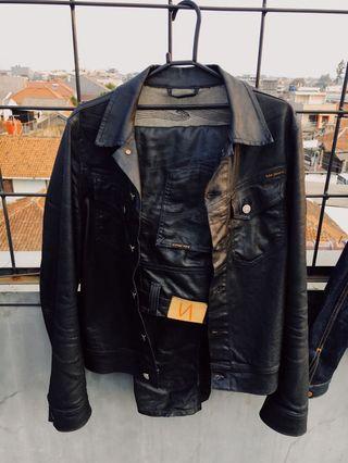nudie jacket black coated & nudie thinfinn black coated indigo
