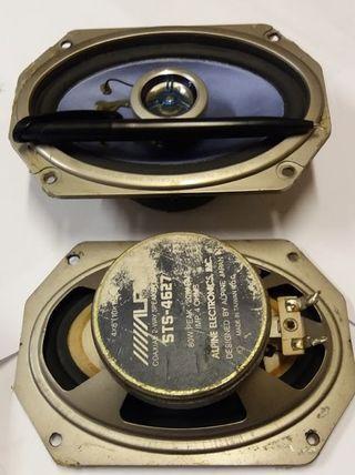 """Alpine coaxial 2 ways 80w/4ohm speaker ( 4""""x6"""" )"""