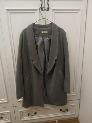 灰色 西裝外套 長大衣 / 休閒西外