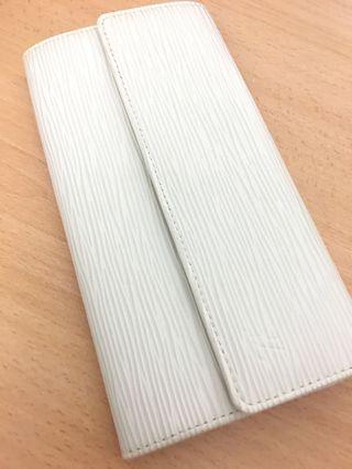 Authentic Louis Vuitton Epi white long purse wallet