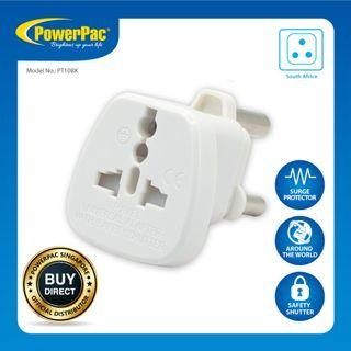 2 X PowerPac Multi Travel Adapter (PT10BK) South Africa